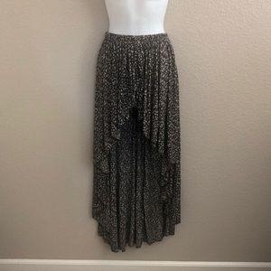 Brandy Melville Floral Faux Wrap Hi-Lo Skirt